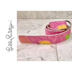 LILLY PULITZER {Girls' L} Cloth Belt Pink & Yellow
